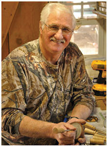 Al Holbert in his workshop in Windham Township, Bradford County.