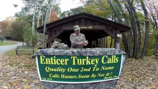 Enticer Turkey Calls - Demo Wet Wonder Calls