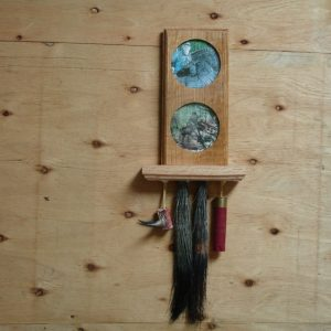 Turkey Beard and Personalized 2 Picture Plaque